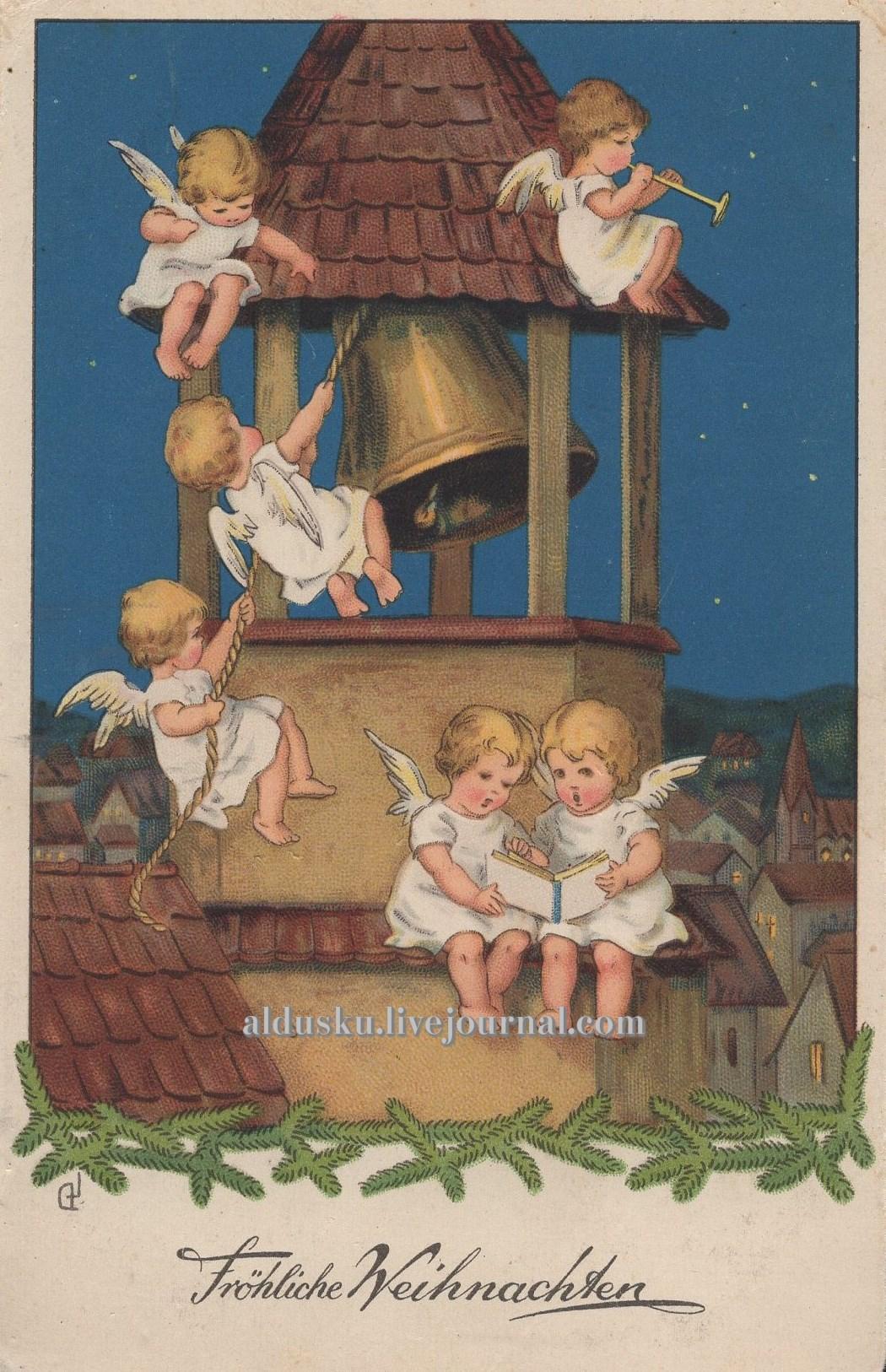 Ангелочки с книгой. Германия. Судя по тексту сзади — 1933