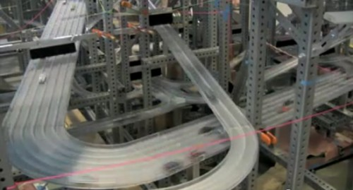 Metropolis II is a kinetic art installation by Chris Burden featuring 1,200 Hot Wheels. It includes
