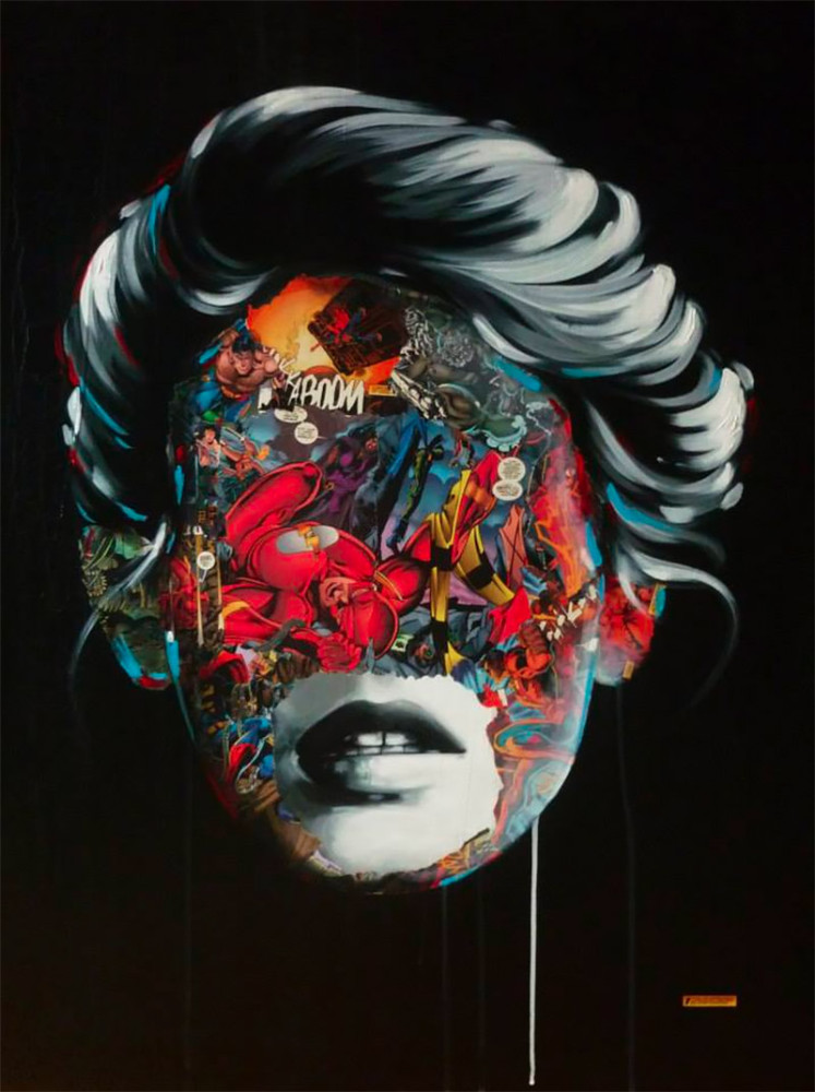 Comic Book Portraits by Sandra Chevrier