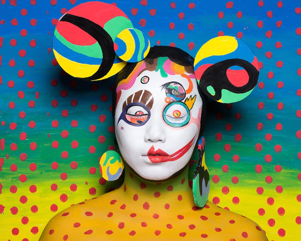 Amazing Japanese Pop Art Face Painting