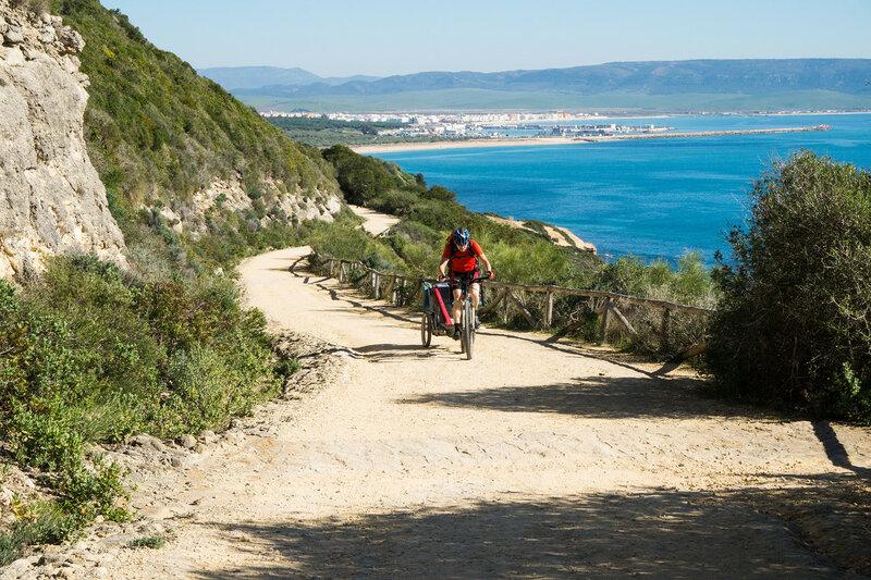 на велосипеде вдоль берега Света (Costa del luz) у Барбате (Barbate), Кадис