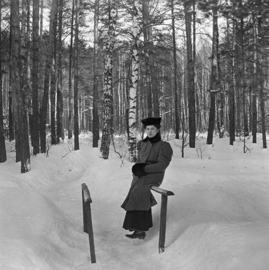 Прогулка в Петровско-Разумовское. «Клара сидит на перилах мостика»
