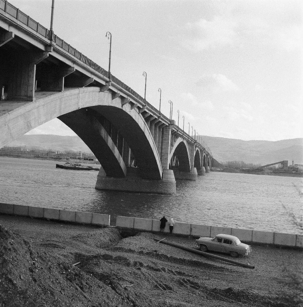 Красноярск. Автомобильный мост через Енисей