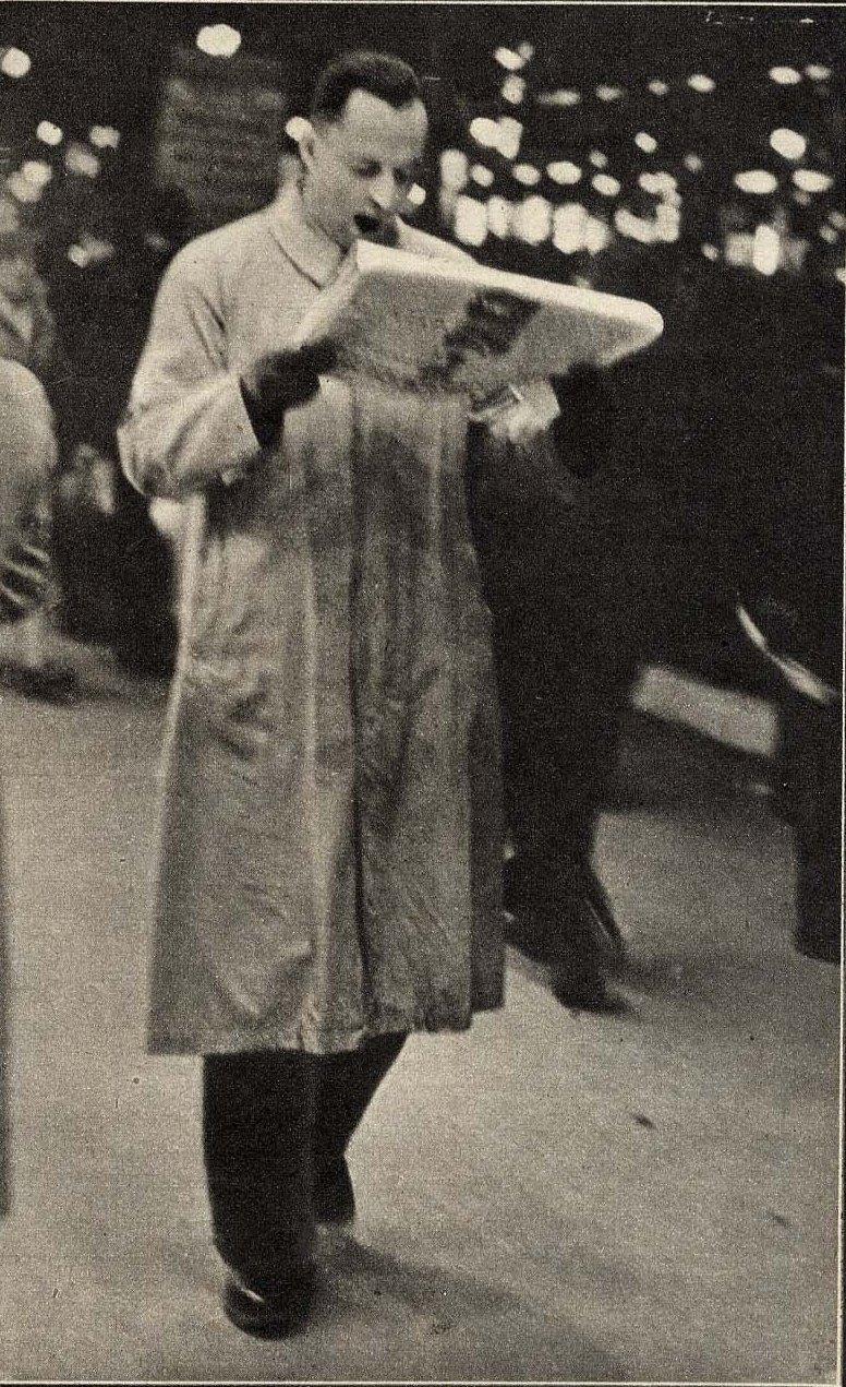 1932. Попытка чтения вечерней газеты