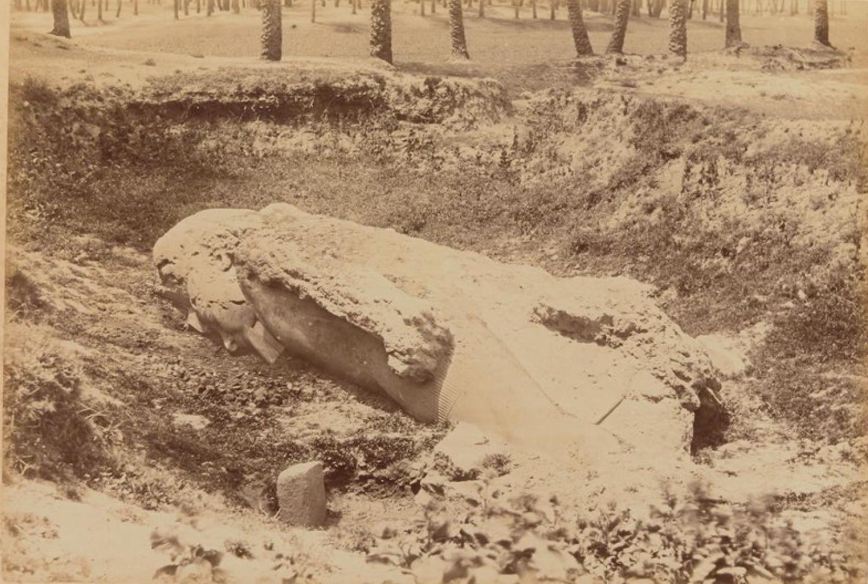 Колоссальная статуя Сенусерта в Мемфисе