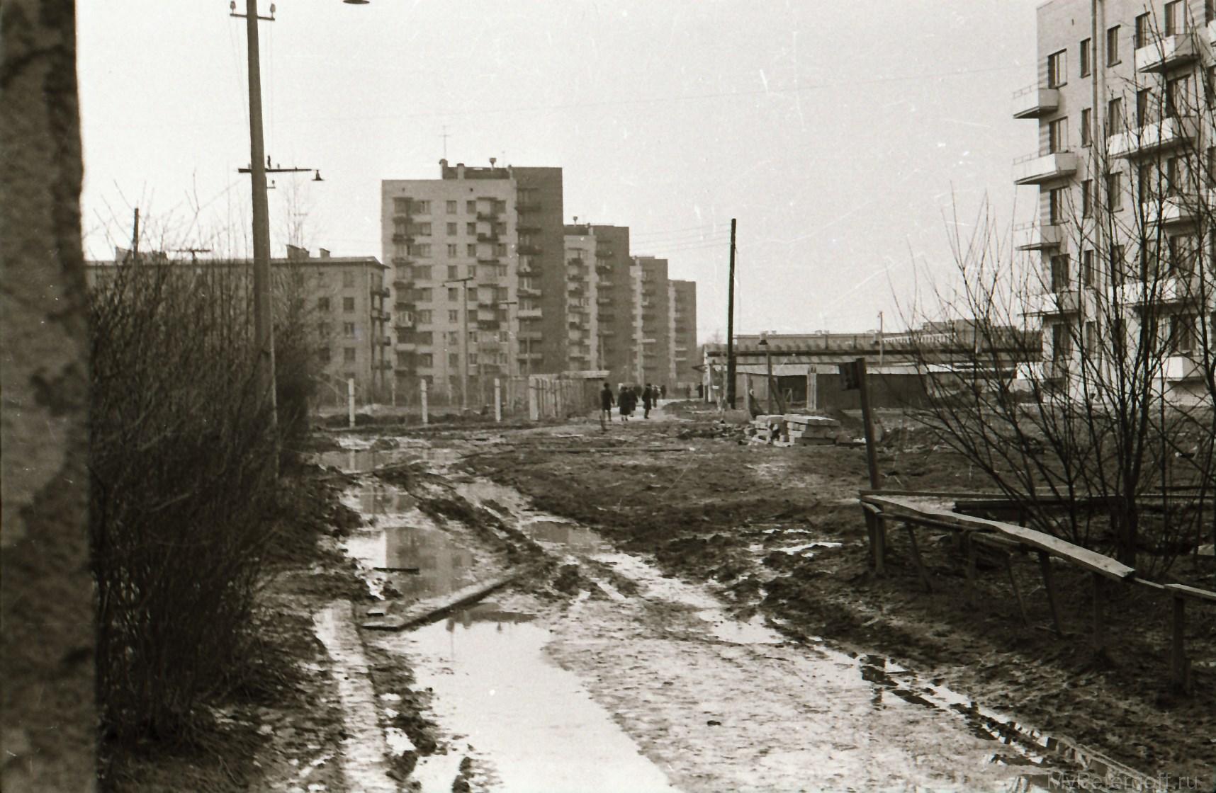 1974. Во дворе дома №35 на Разводной улице