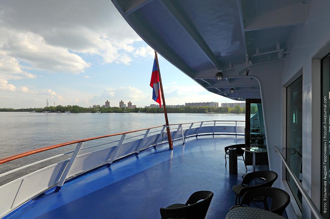 теплоход Дмитрий Фурманов фото корма средней палубы