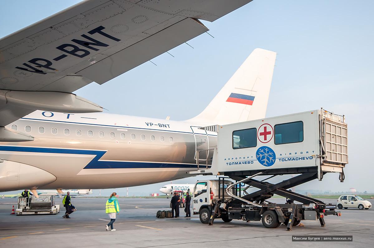 Добролёт VP-BNT в Новосибирске. (с) Фото Максима Бугаева