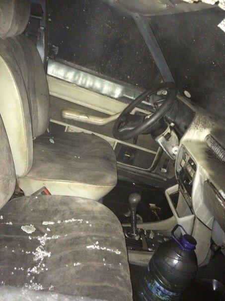 Ночью на Керченской переправе сгорел Mercedes [Фото] фото 1