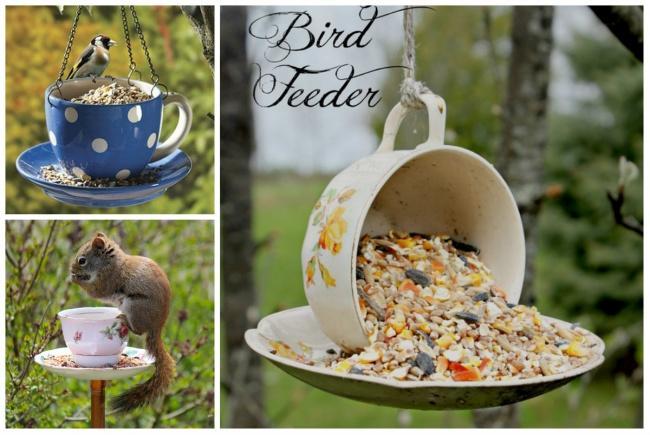 3. Кормушка поможет птицам изверькам пережить суровые холода.