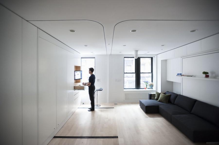 1. Казалось бы, перед нами самая обыкновенная просторная квартира-студия.
