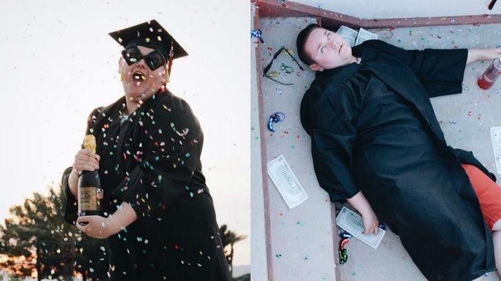 Выпускная фотосессия этого школьника явно удалась