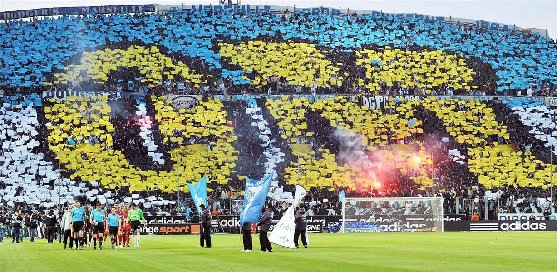 Soccer tifos / Гигантские баннеры футбольных болельщиков со со стадионов по всему миру - Marseille