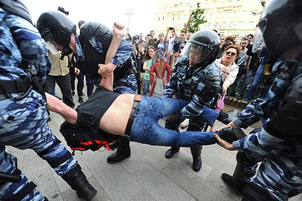Задержание на Тверской 12 июня, 2017, Фото:-Антон Сергиенко/РБК(4)