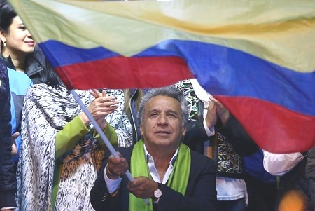 Избирком Эквадора назвал Ленина Морено победителем президентских выборов