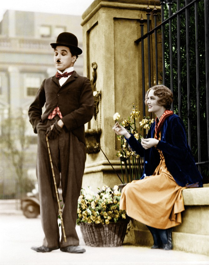 15 редких раскрашенных фотографий Чарли Чаплина, сделанных в 1910-1930-х годах (14 фото)