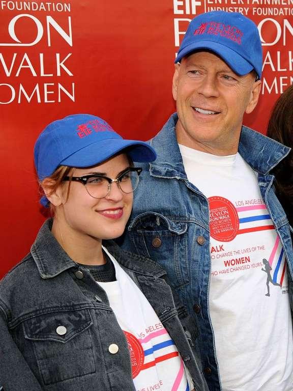 4. Брюс Уиллис и его дочь, Таллула.