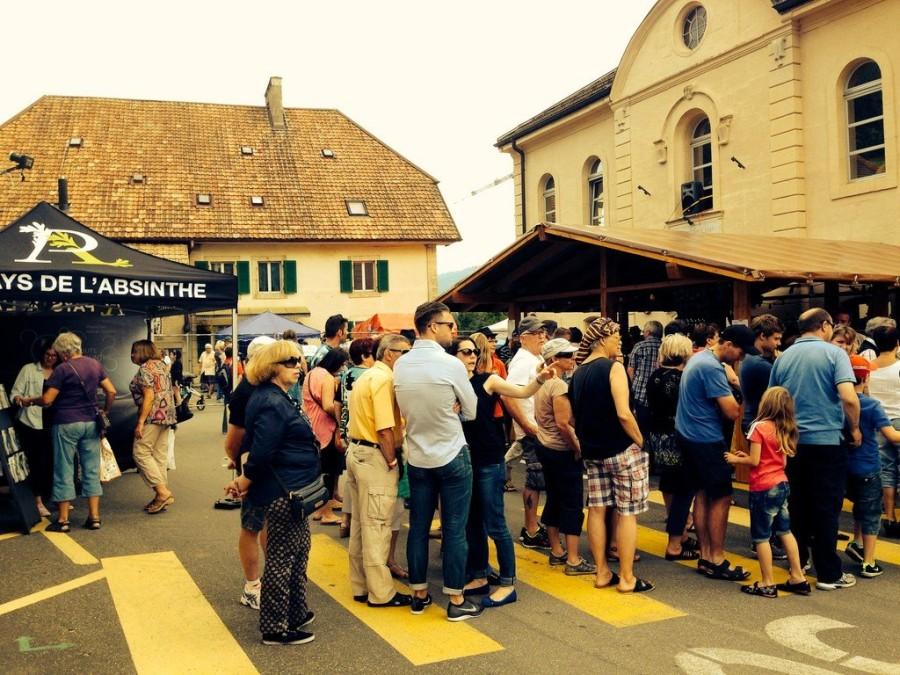 9. Праздник Абсента Небольшой городок Бовересс в западной Швейцарии славен тем, что здесь выращивает