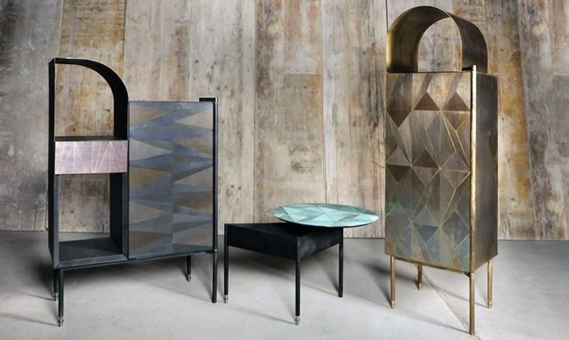 Мебель арт-деко инкрустированная металлом (8 фото)