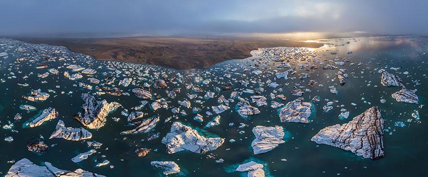 17. Йёкюльсаурлоун Ледниковый Лагуна, Исландия