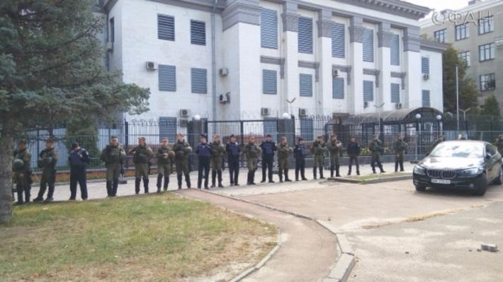 Посольство Российской Федерации направило МИД Украины ноту протеста из-за нападения на строение миссии