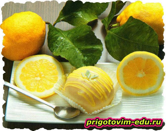 Нежные лимонные трюфели