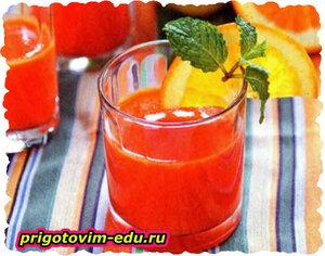 Сок из моркови с грушами