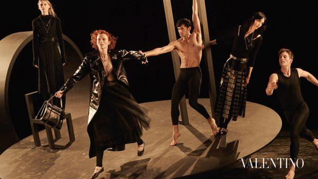 Supermodels for Valentino Fall Winter 2016.17 Campaign