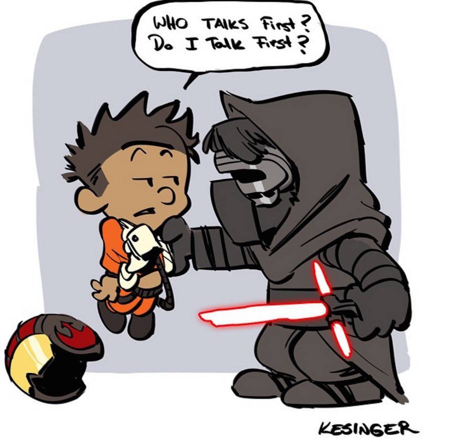 Star Wars Meets Calvin and Hobbes Comics