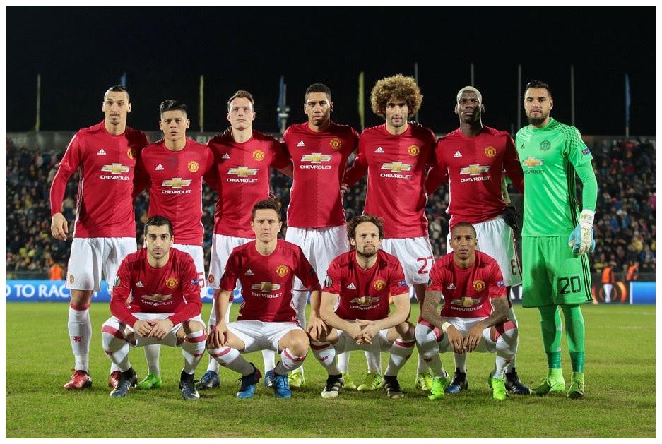 2017.03.09. Основной состав Манчестер Юнайтед
