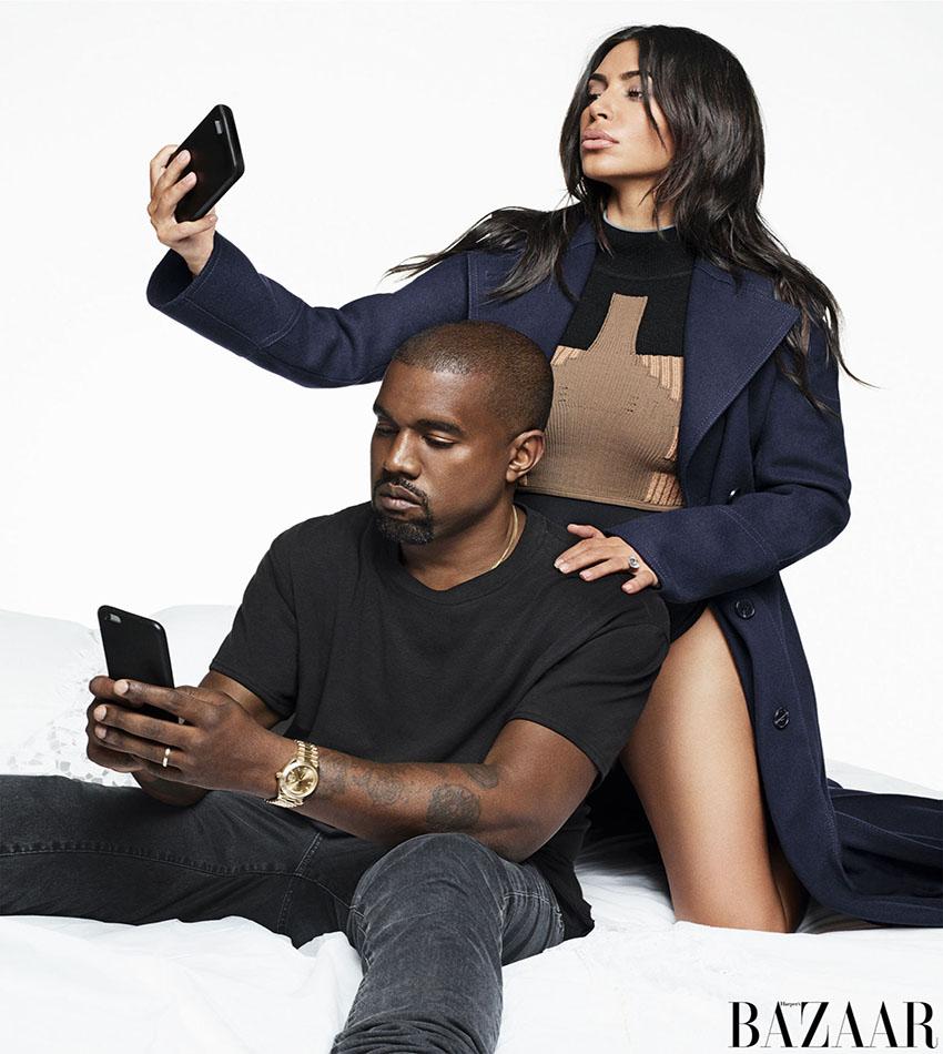 Kim Kardashian and Kanye West - Harper's Bazaar US (September 2016)