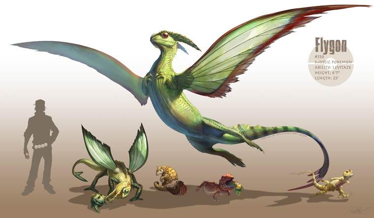 Les Pokemon en version epique et realiste