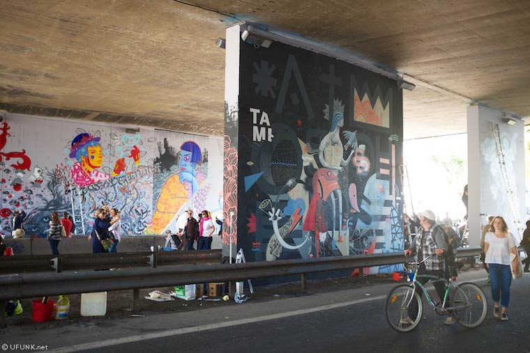 The Bridge - A street art festival invites himself under the bridge of a closed highway