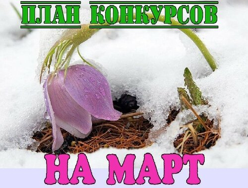 ПЛАН КОНКУРСОВ НА МАРТ 2018 ГОДА