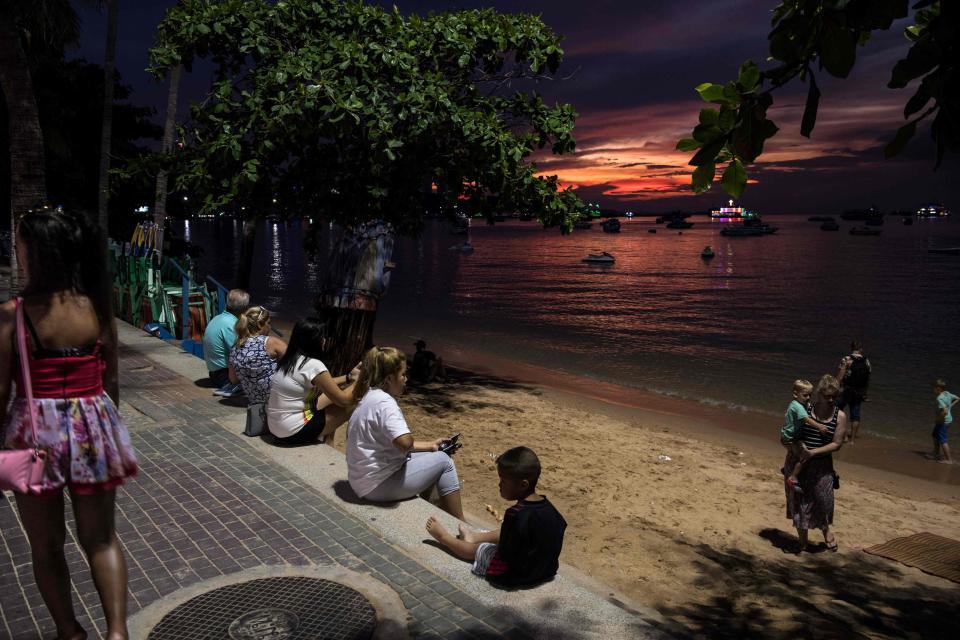 Район красных фонарей в Паттайе