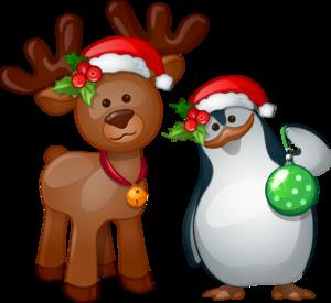 пингвиненок и олененок