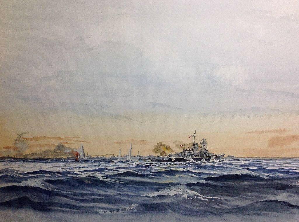 Pocket Battleship Admiral Scheer attacking Convoy HX 84.