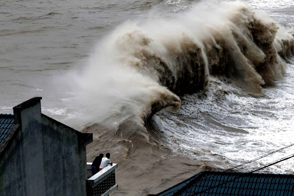 14. Тайфун Чан-хом в Китае, 10 июля 2015.