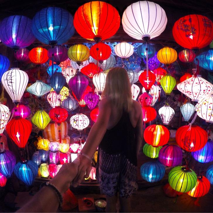Ночной рынок в Хойане, Вьетнам