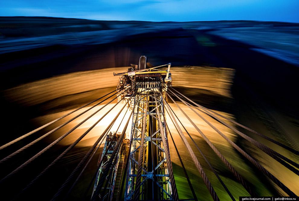 28. Роторные карьерные экскаваторы — одни из самых крупных агрегатов, созданных человеком. В Ро