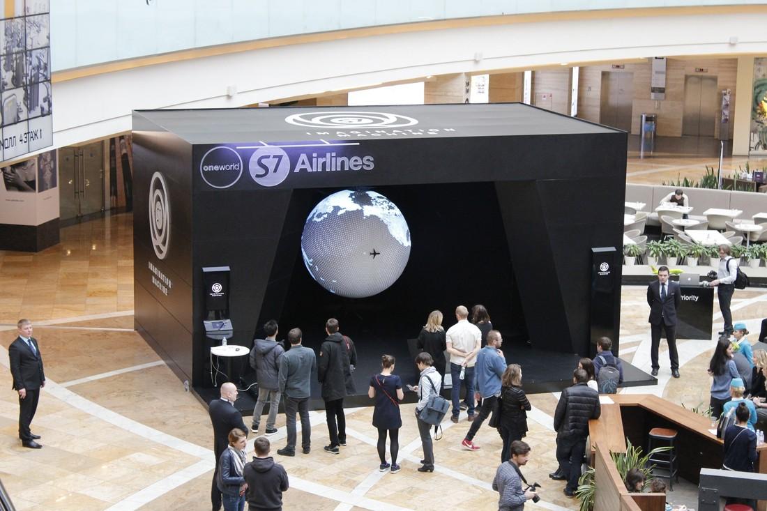Полет во сне и наяву: S7 Airlines представила в Москве уникальную установку Imagination Machine (10 фото)