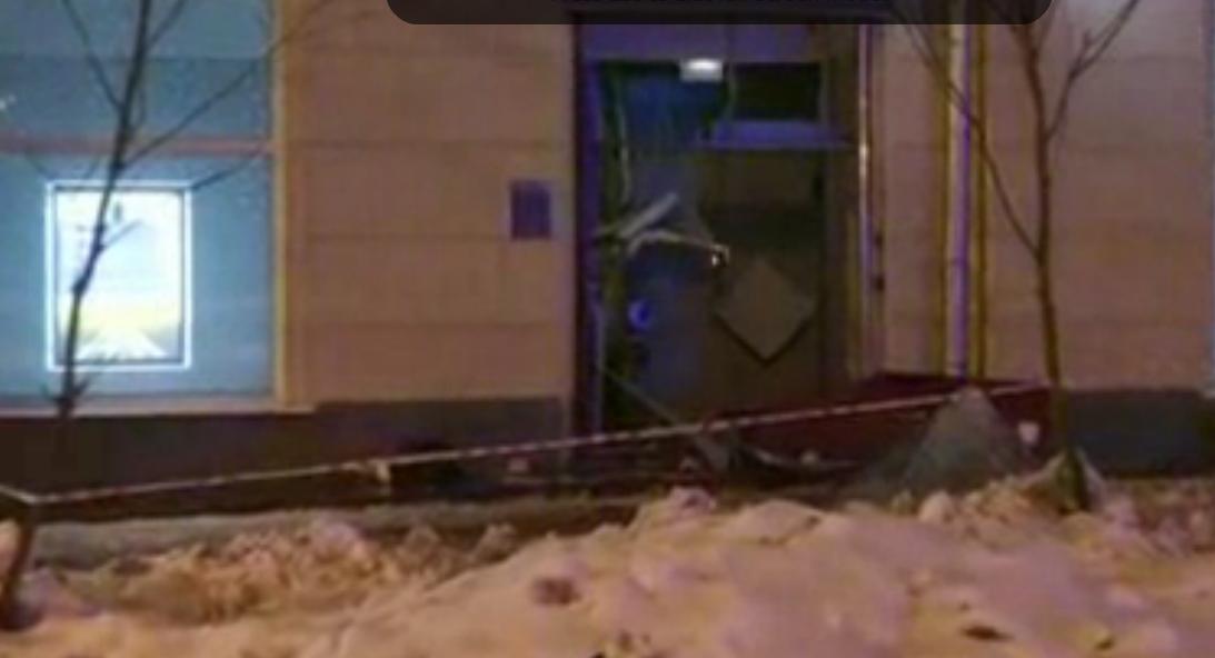 Преступник подорвал банкомат насеверо-западе столицы