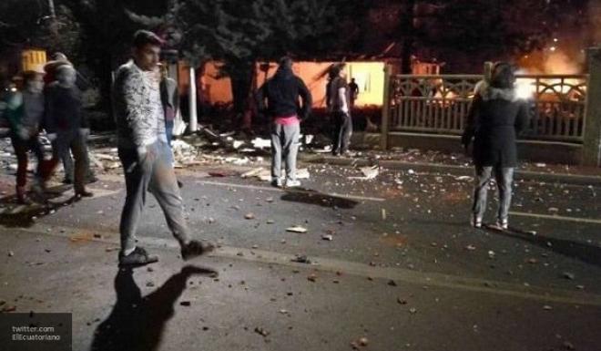 Полицейские пострадали впроцессе беспорядков встолице франции