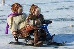 Ненецкие малыши на снегоходе... Ямал.