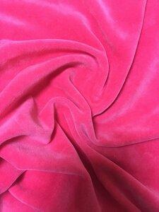 Велюр Ярко-розовый. Состав 80% Хб+ 20% Пэ Плотность 240 Карде (ринг) Ширина 180 см Цена  - 330 руб/м