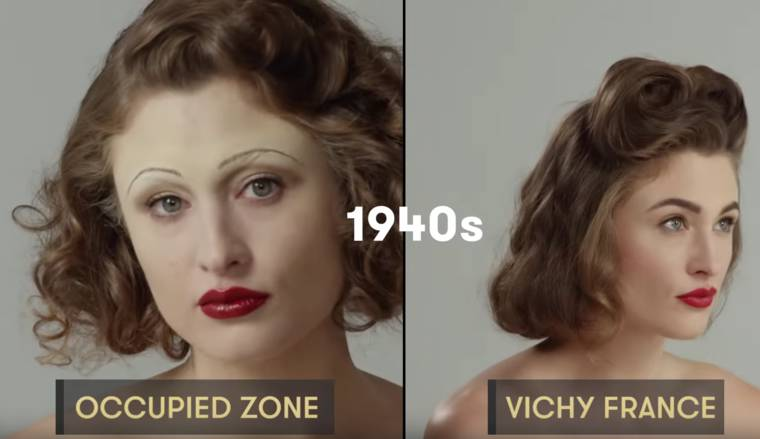 100 years of beauty in one minute – The evolution of style in France