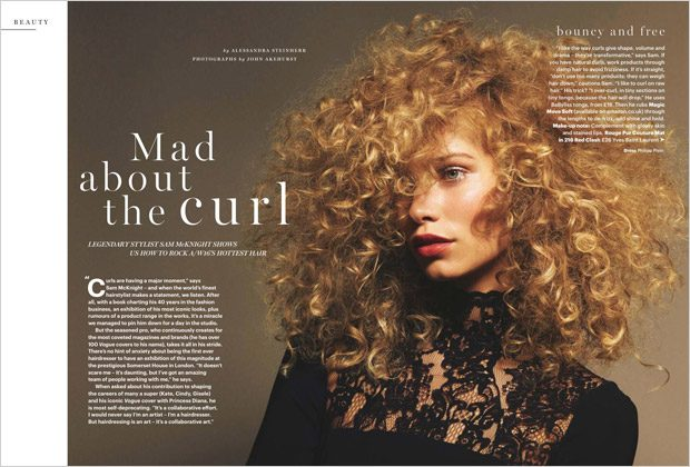 Mad About the Curl: Kirstin Kragh Liljegren Stars in Glamour UK