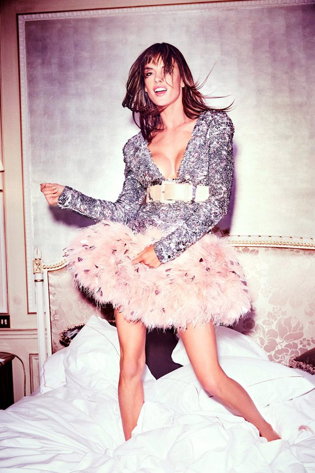 Alessandra Ambrosio Stars in the Cover Story of ELLE Russia April 2017 Issue