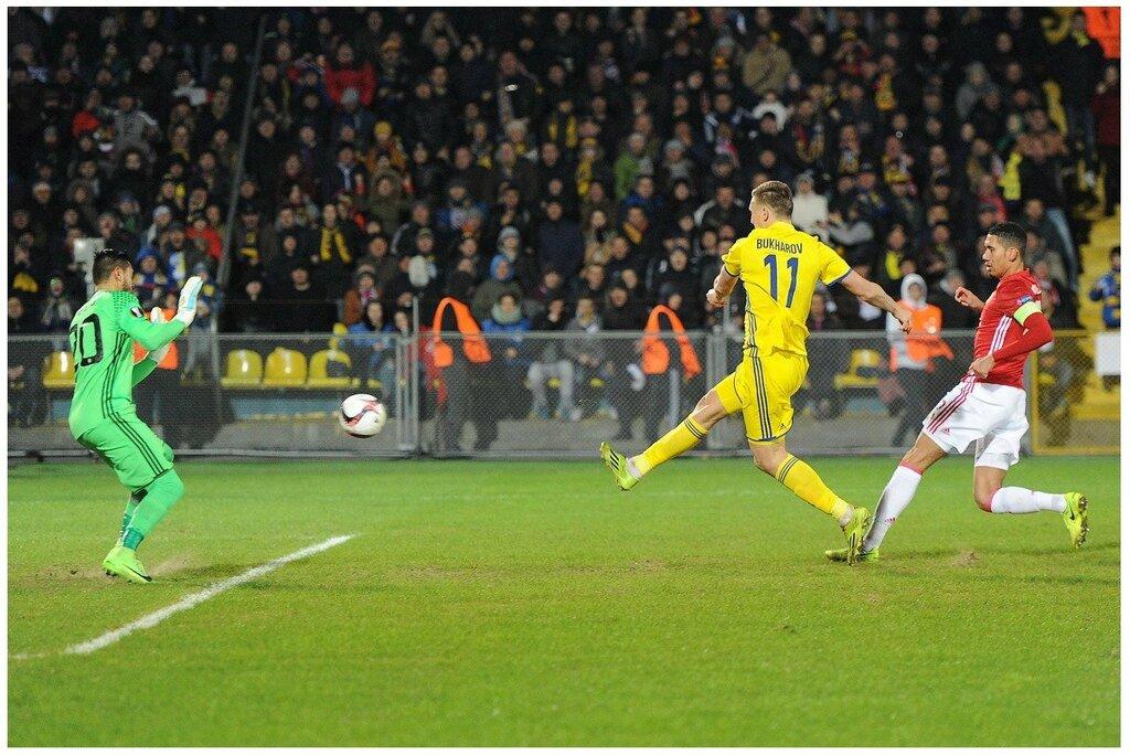 Бухаров забивает гол. 9 марта 2017