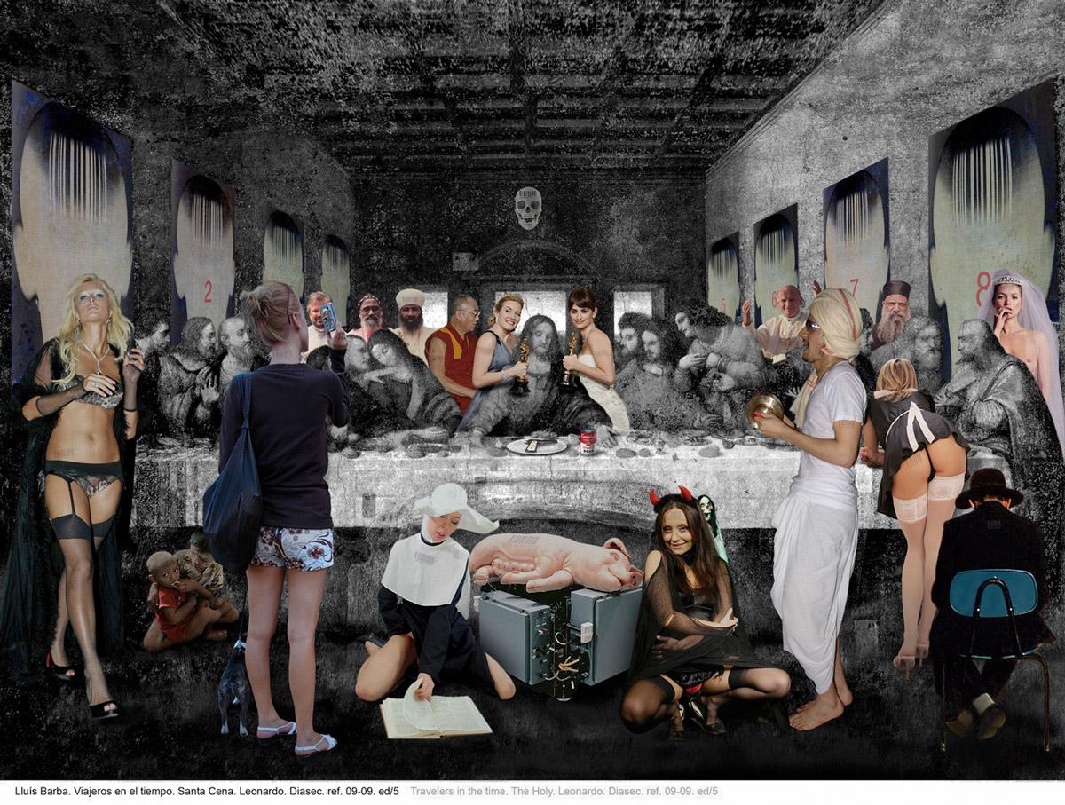 Arte + Cultura Pop + Criticas sociais = obras de Lluis Barba